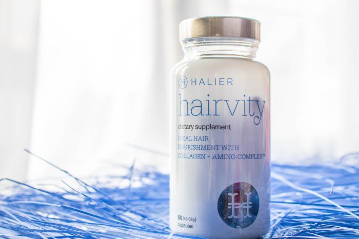 Halier Hairvity supplemet stimulating hair growth preventing hairloss