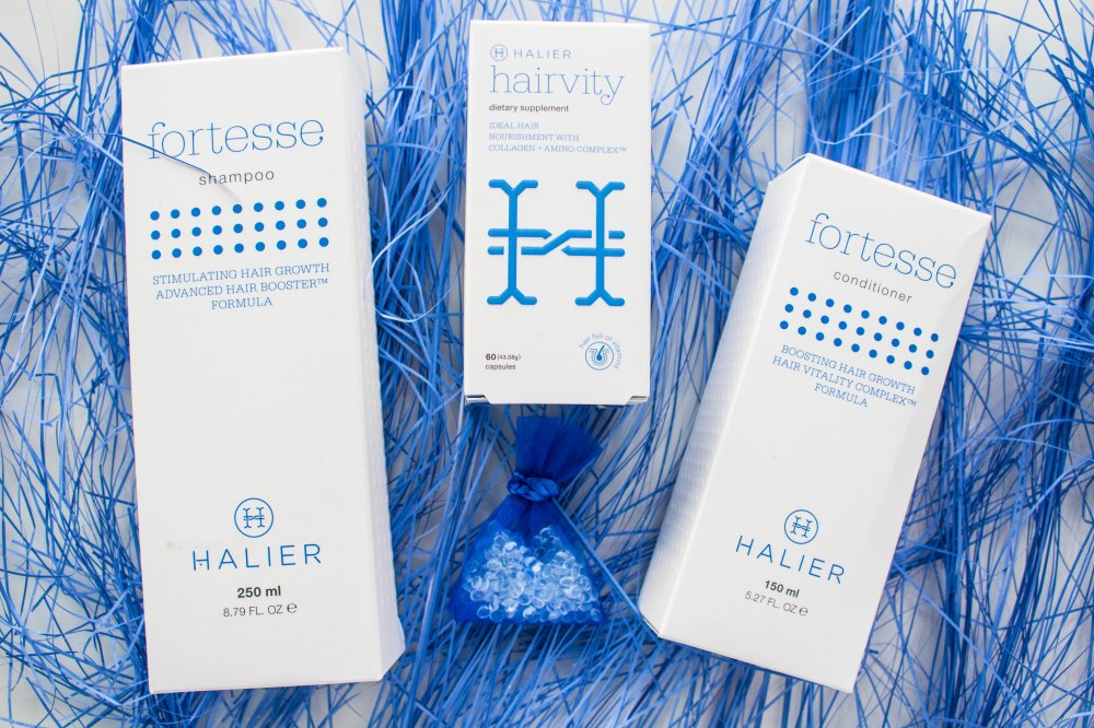 Halier Fortesse shampoo conditioner hairvity supplement stimulating hair growth preventing hairloss