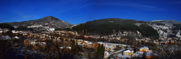 view balcony panoramic scenic mountains snow