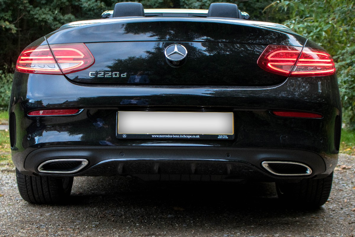 Mercedes c220d AMG line convertible cabriolet back exhaust system