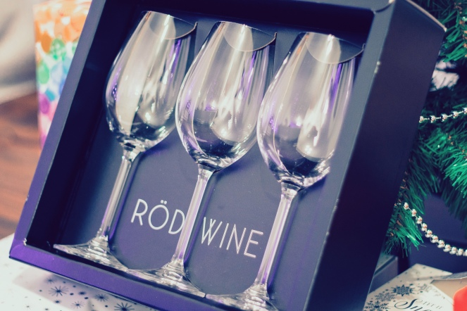 RÖD Wine glasses white present christmas
