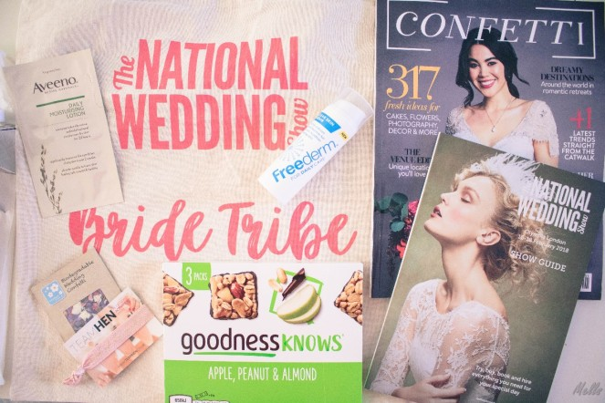 The National Wedding Show London 2018 confetti wedding goodie bag