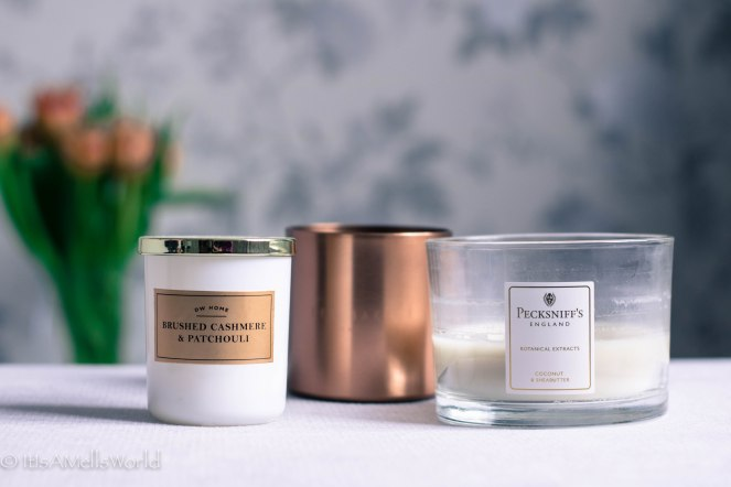 what to spend more money on scented candles dw home brushed cashmere and patchouli pecksniff's coconut and shea butter