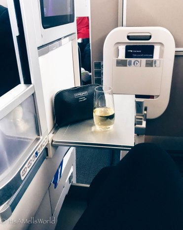 british airways business class travel blog champagne the white company