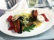 british airways business class meal travel blog salad