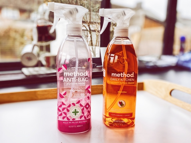 method anti bac kitchen surface spray non toxic cleaning